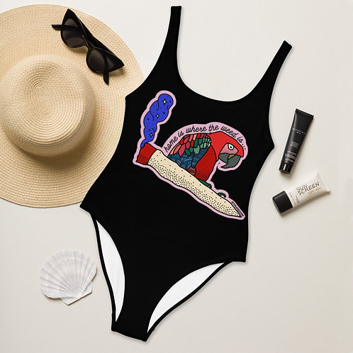 Home is where the weed is - One-Piece Swimsuit