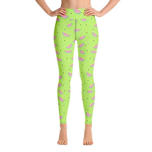 Watermelon Yoga Leggings
