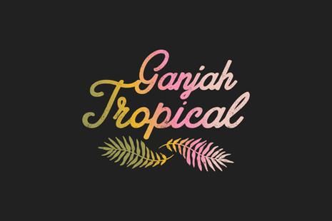 ganjah-tropical-logo-design