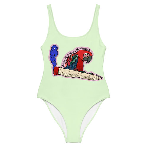 Home is where the weed is - green - One-Piece Swimsuit