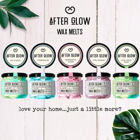 AFTERGLOW labels  and brand identity design