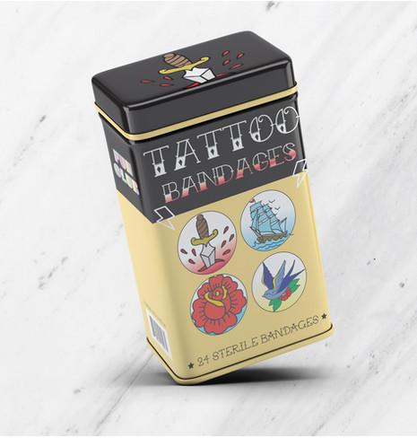 FUNCLUB TATTOO BANDAGES TIN BOX DESIGN