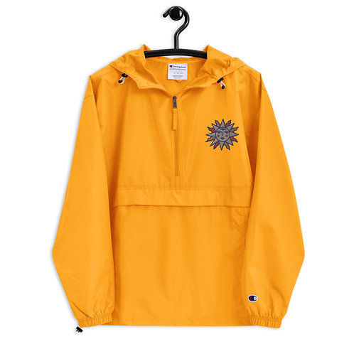 Sun Embroidered Champion Packable Jacket