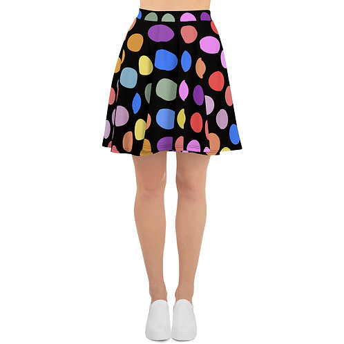 2021 Polka Dots Colors Skater Skirt