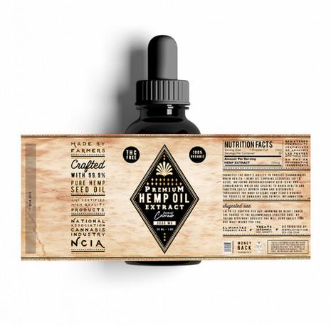 Hemp Oil Label Design