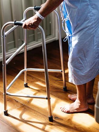 Patient with walker