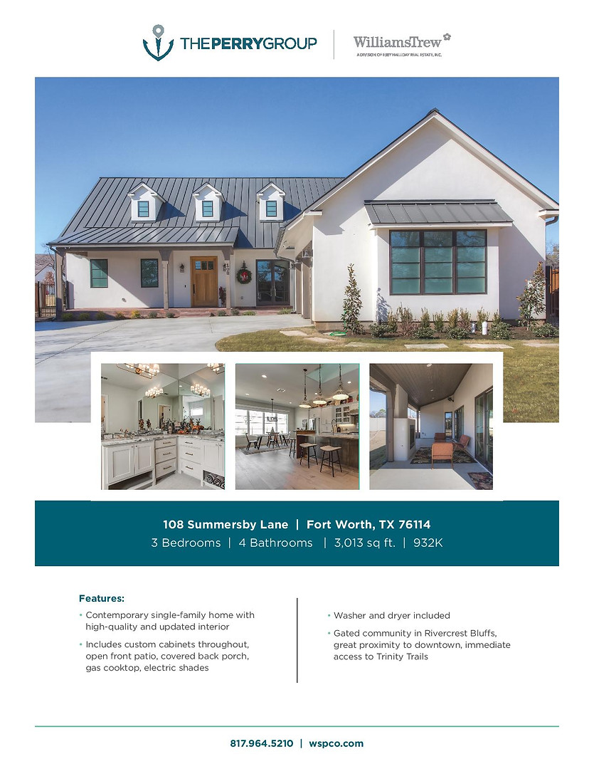 The Perry Group Property Listing Flyer