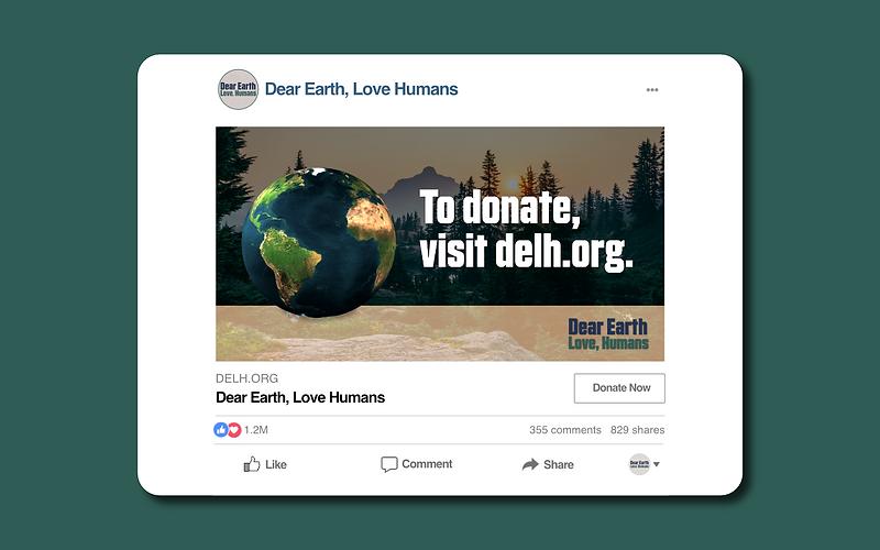 Dear Earth Facebook Ad