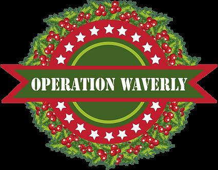 Operation Waverly Logo with wreath behin