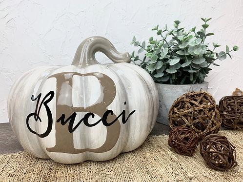 Rustic Family Name Pumpkin