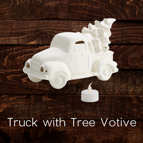 TRUCK WITH TREE VOTIVE