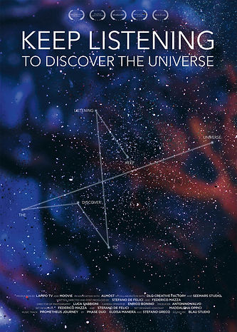 LOCANDINA KEEP LISTENING TO DISCOVER THE UNIVERSE