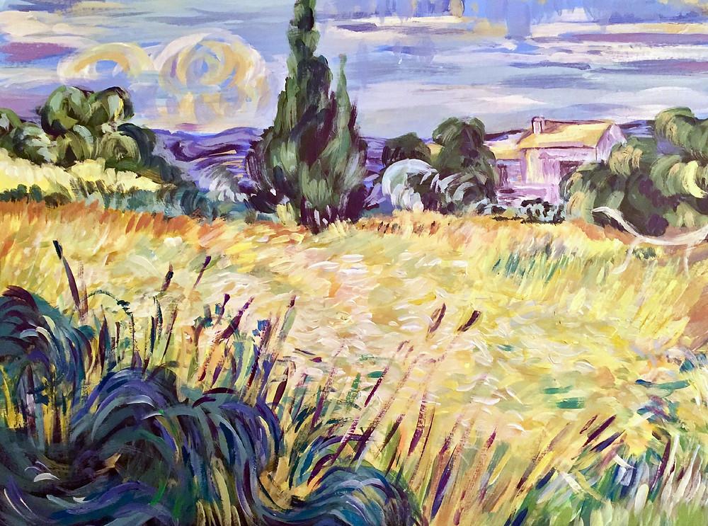 Van Gogh acrylic painting
