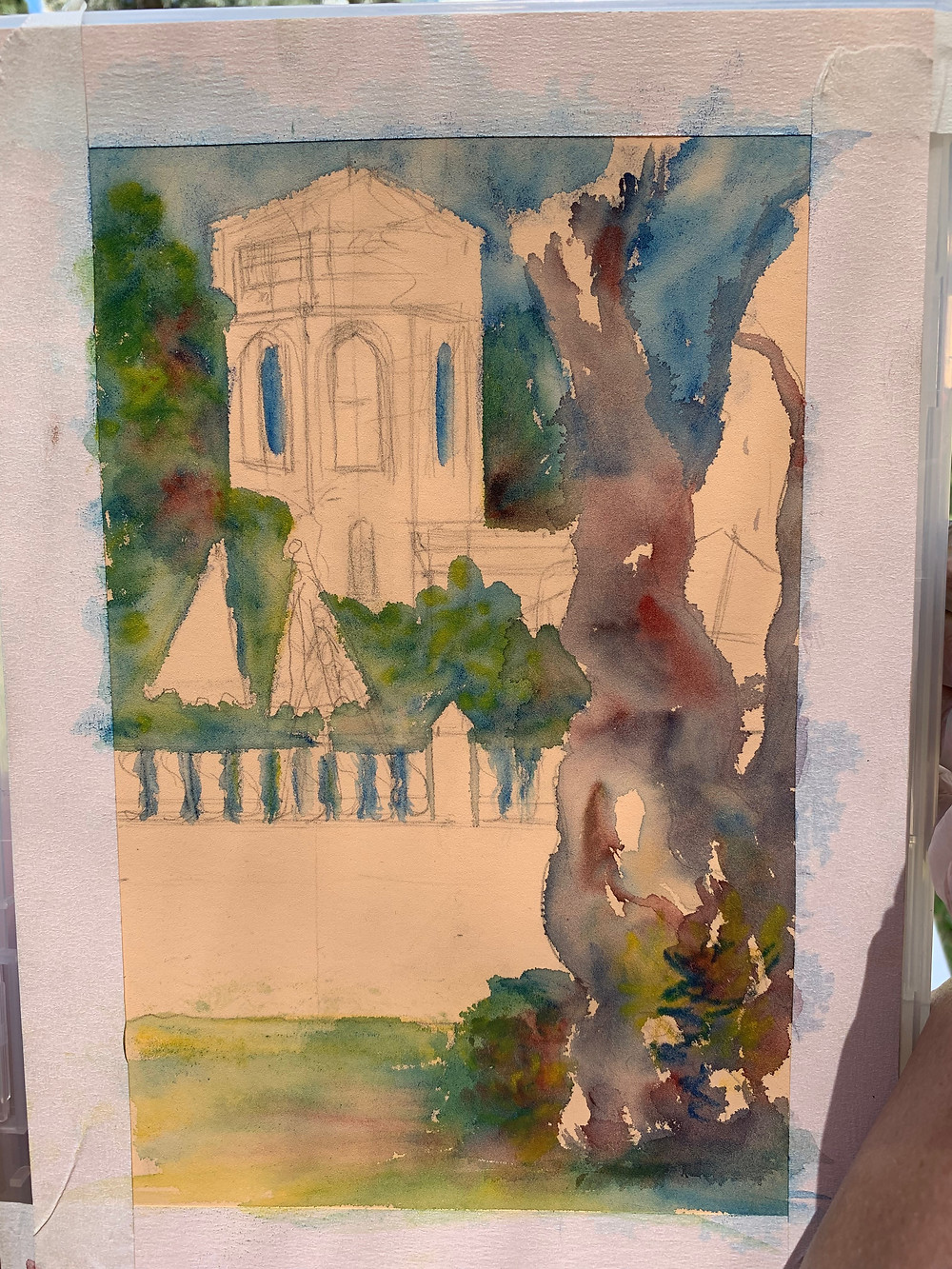 Seeking Shade sketch Art Graf blocks