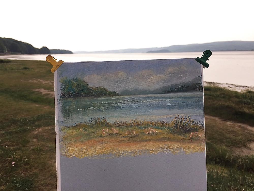 Arnside pastel painting