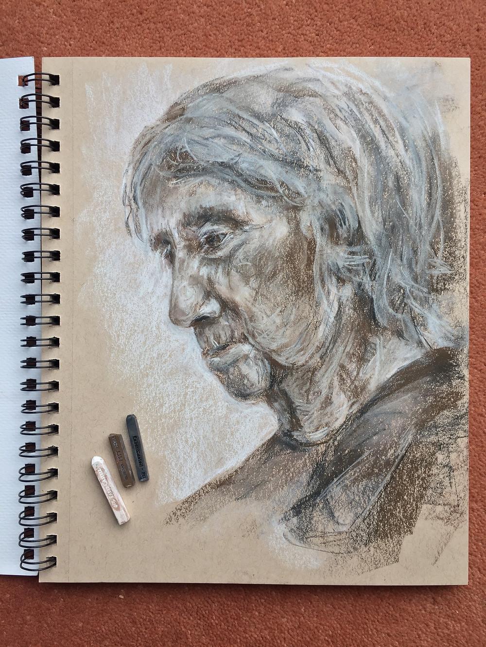 Mum tonal sketch