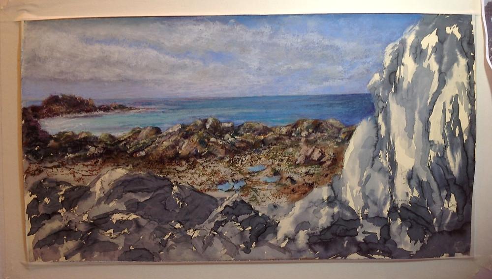 Guernsey rocks pastels