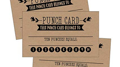 COFFEE PUNCH CARDS (50)