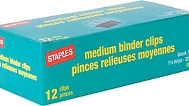 BINDER CLIPS - MEDIUM (12)