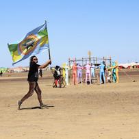 The Nepflag at Afrika Burn