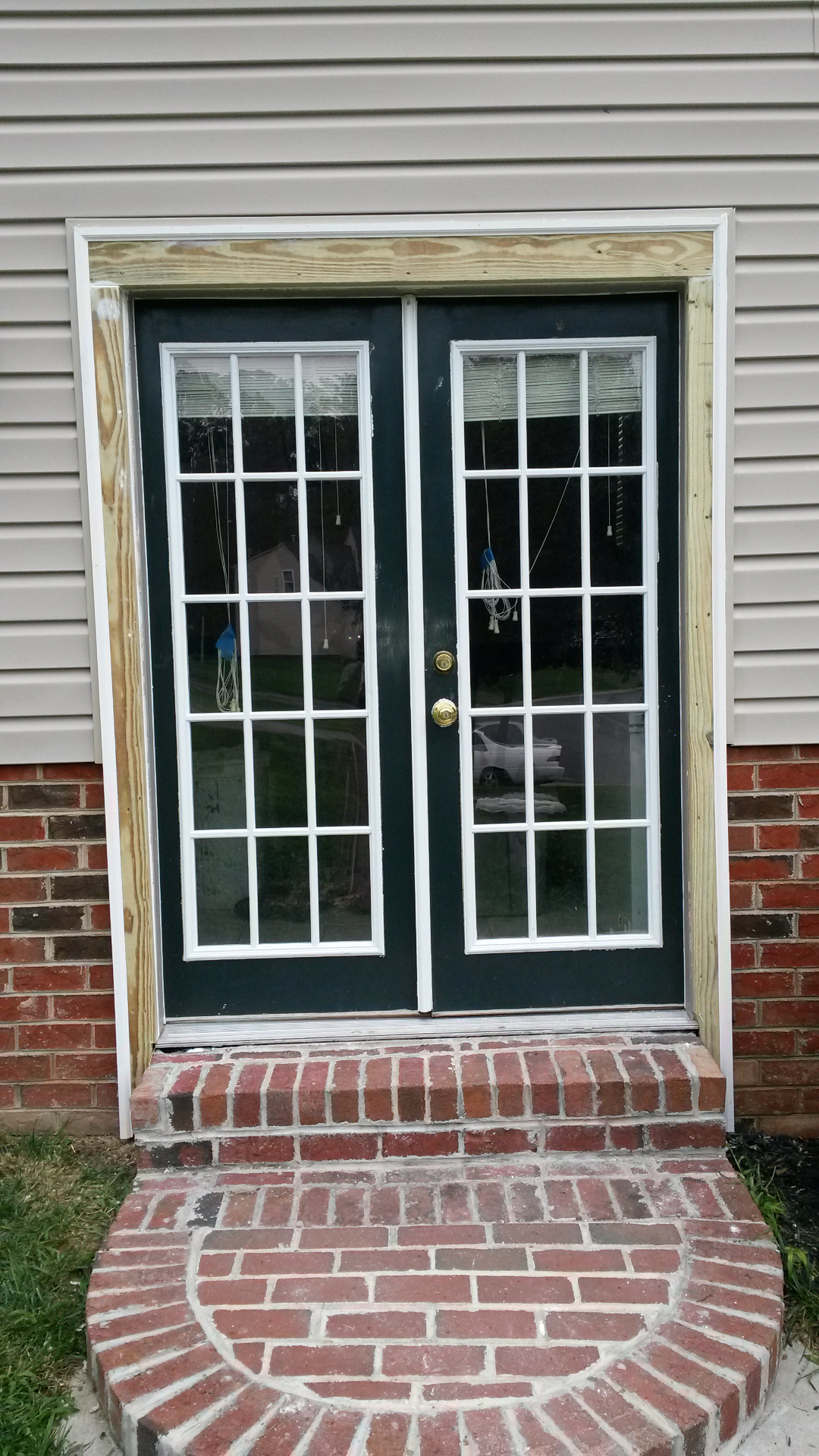 door removed, reframed,and trim