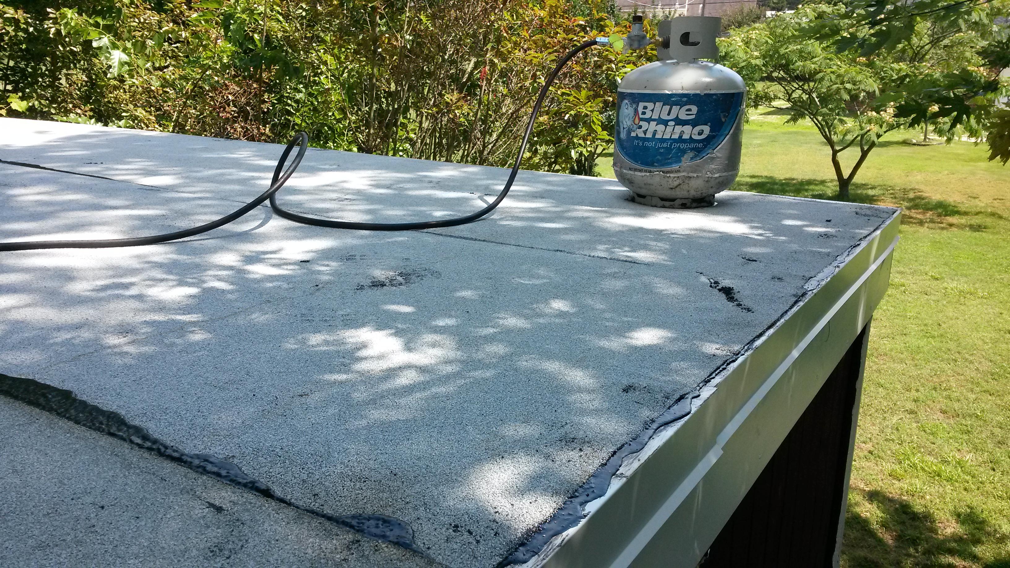 shed restoration - new roof