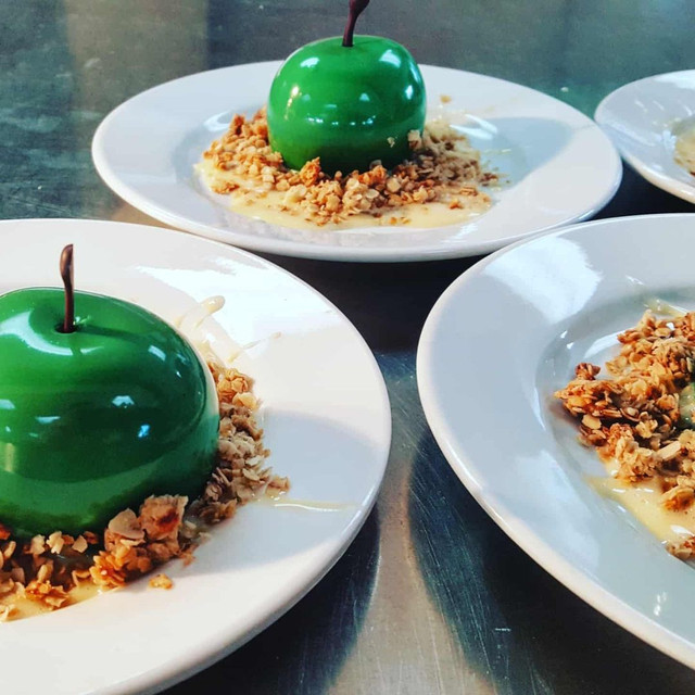 COLD APPLE CRUMBLE ON THE PASS