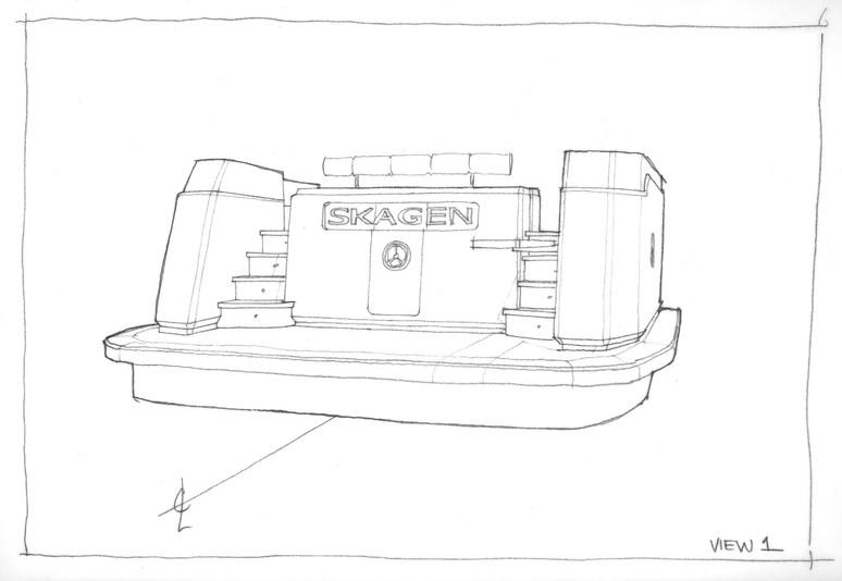Ocean Class 70 - Transom Detailing