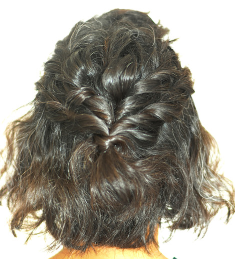 Half up do for Short Hair with Rope Braids
