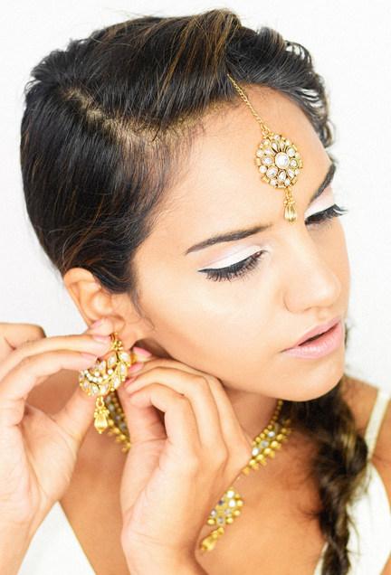 Indian Bridal Makeup with Rope Braid Hair
