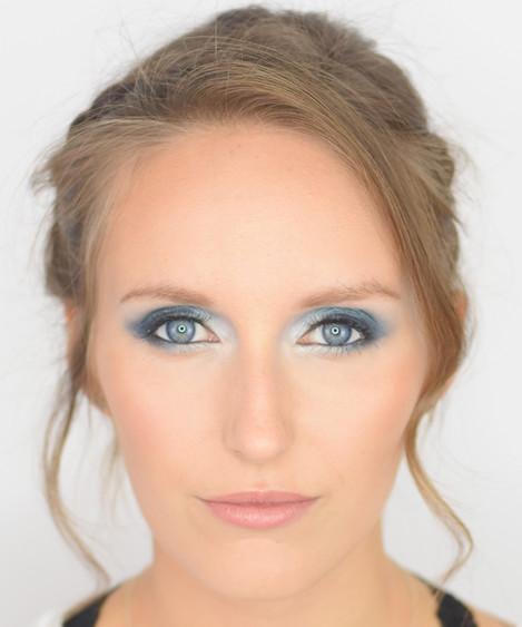 Turquoise Smokey Eyes & Romantic Updo