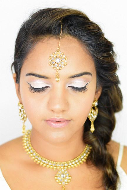 Indian Bridal Makeup & Rope Braid Hair