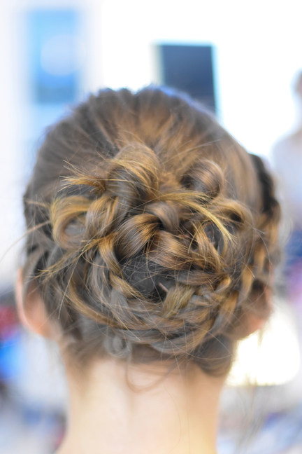 Bridal / Bridesmaid Updo with Lace braids