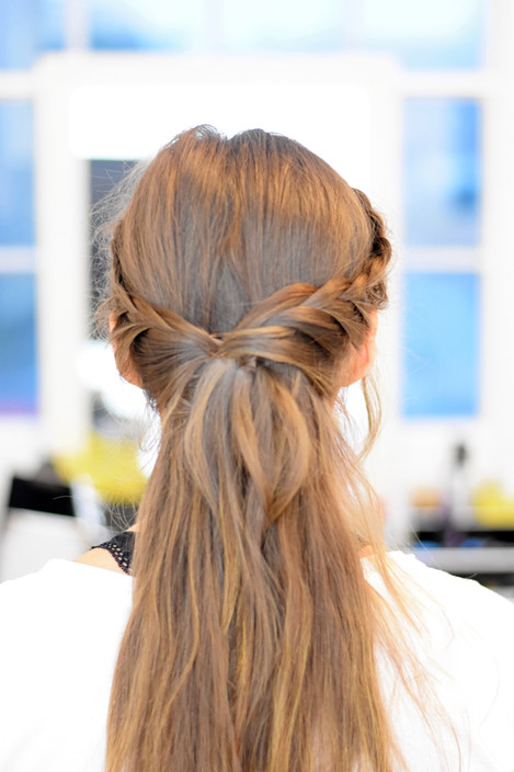 Half Up Do with Lace Braids