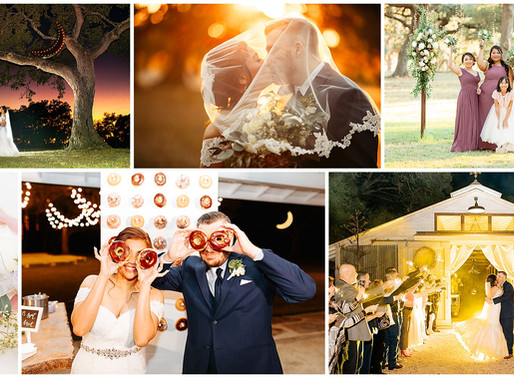 Beneath the Light of The Neon Moon | Valerie + Thomas | The Oaks at Boerne | Snap Chic Photography