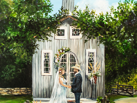 Live Wedding Painter, San Antonio Texas. Snap Chic Wedding Painting