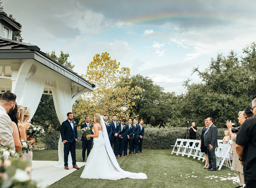 Somewhere Over The Rainbow | Ashley + Andy's Hill Country Dream Wedding | The Kendall Point Venue