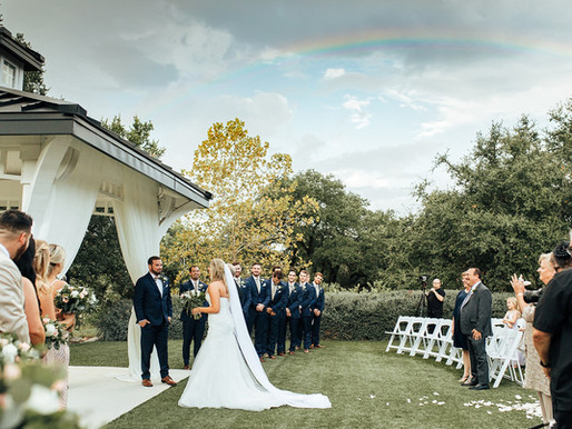 Somewhere Over The Rainbow   Ashley + Andy's Hill Country Dream Wedding   The Kendall Point Venue