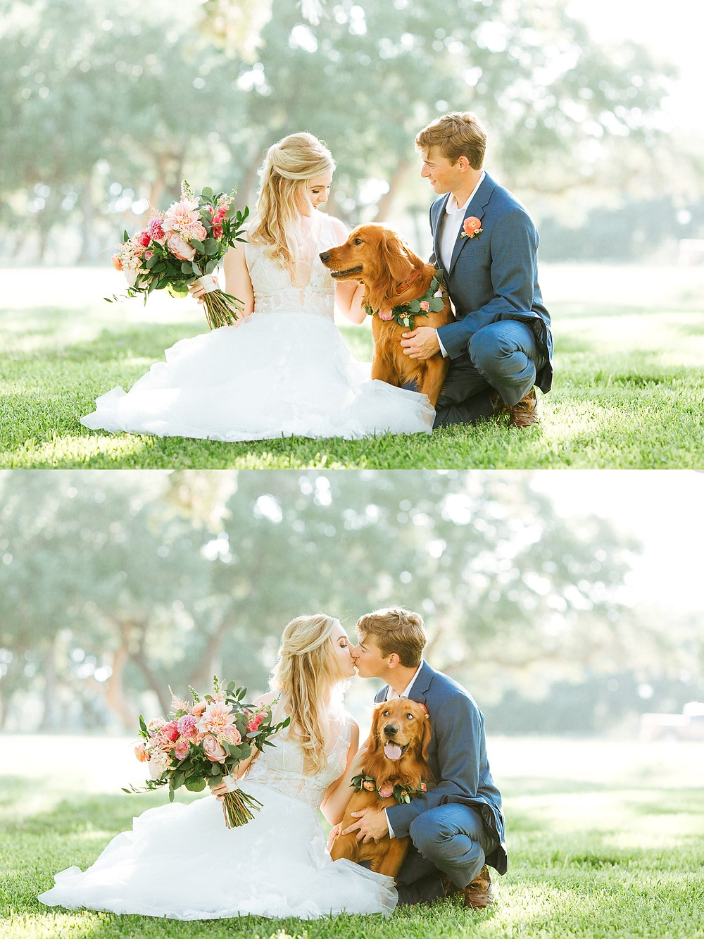 The Oaks at Boerne Wedding | Snap Chic Photography | Boerne and San Antonio Wedding Photographer | Wedding Photos with Dogs