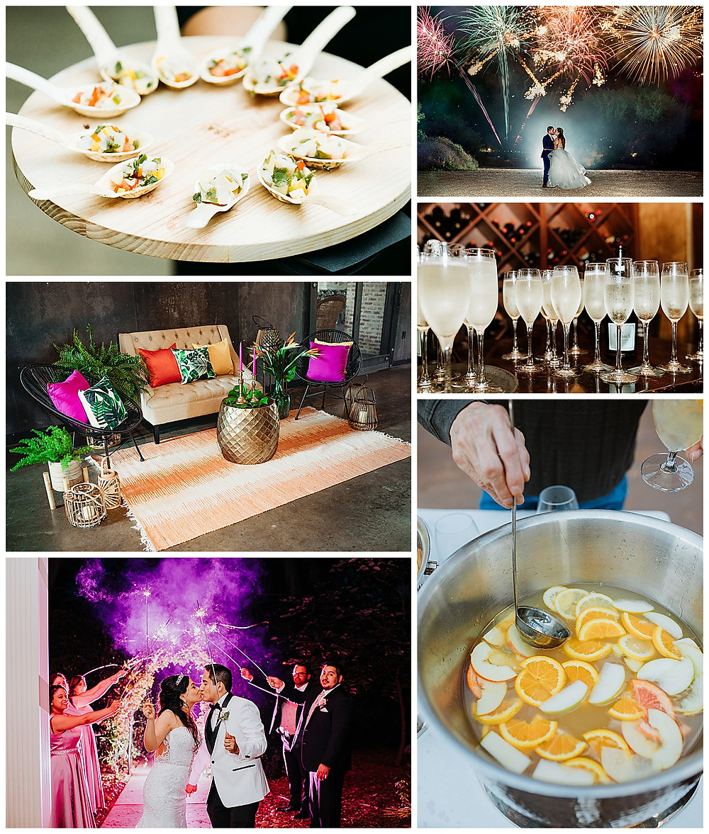 Summer Wedding | Wedding Planning | Wedding Venues | Spring Wedding | Brunch Wedding | Brunch | Outdoor Wedding | Garden Wedding | Bouquet | Spring Floral Arrangement | Fireworks | Sparkler Send off | Appetizers |