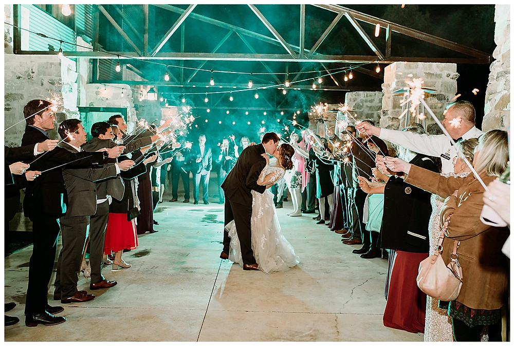 Park 31 Wedding | Spring Branch | Winter Wedding | Hill Country Wedding Planner | San Antonio Wedding Planner | Boerne Wedding Planner | Burgundy Bridal Bouquet | Wedding Ceremony | Winter Wedding Colors | Park 31 Reception | Bride and Groom Portrait | Grand Exit | Sparkler Exit