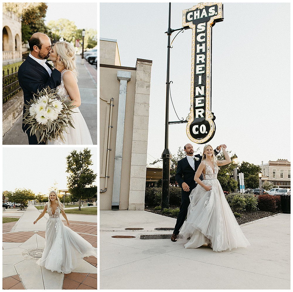 Downtown Kerrville Wedding | Events at Water St Wedding | Kerrville Wedding | Schreiner Mansion Wedding | Kerrville Wedding Planner | Bride and Groom | San Antonio Wedding Planner