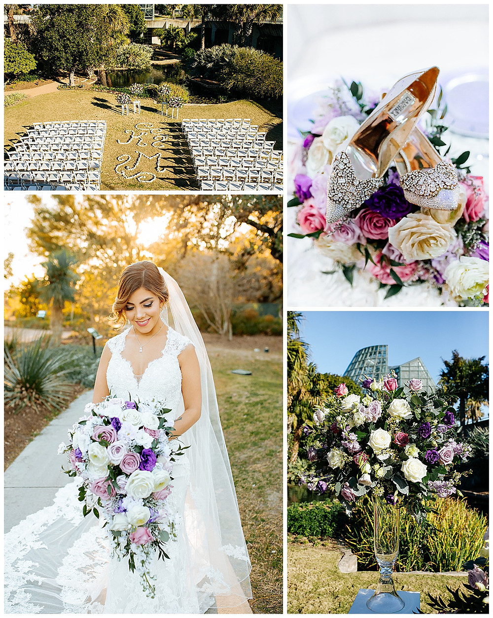 San Antonio Botanical Garden | Rosenberg Skyroom | San Antonio Wedding | Winter Wedding | San Antonio Wedding Planner | Boerne Wedding Planner | Hill Country Wedding | Bridal Bouquet | Wedding Floral  | Purple Flowers