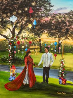San Antonio Wedding Painter
