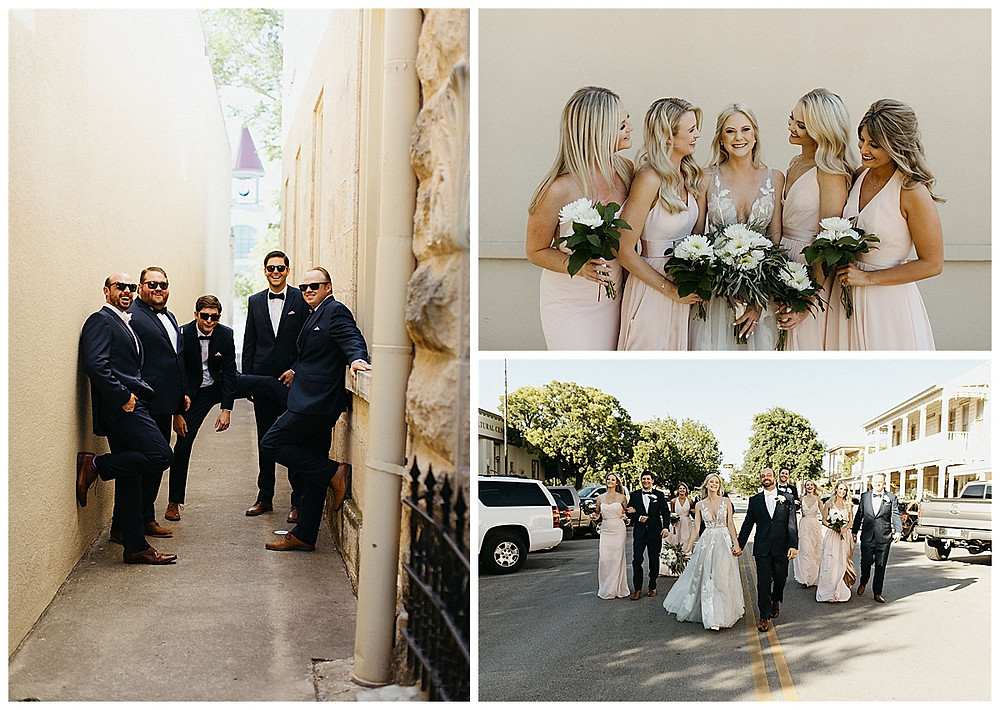 Bride and Groom | Downtown Kerrville Wedding | Events at Water St Wedding | Kerrville Wedding | Schreiner Mansion Wedding | Kerrville Wedding Planner | Bride and Bridesmaids | San Antonio Wedding Planner