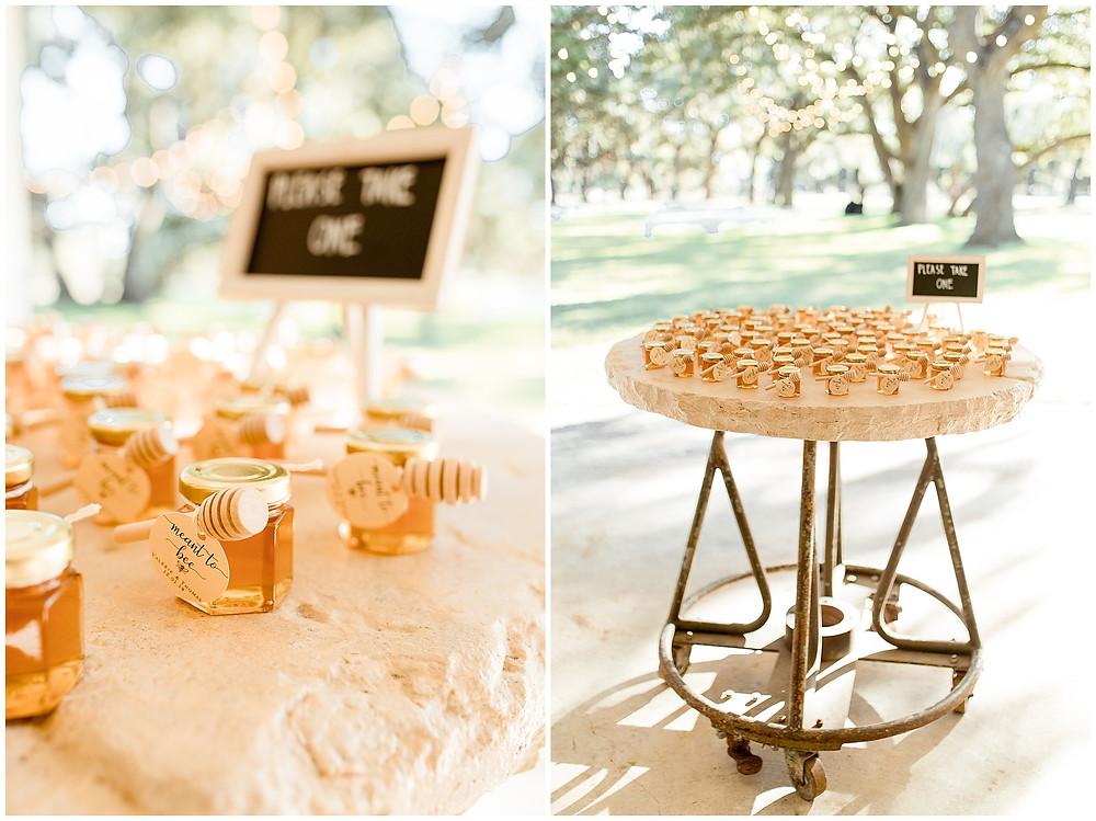 Wedding Honey Favors | Boerne Wedding Photographer | The Oaks at Boerne