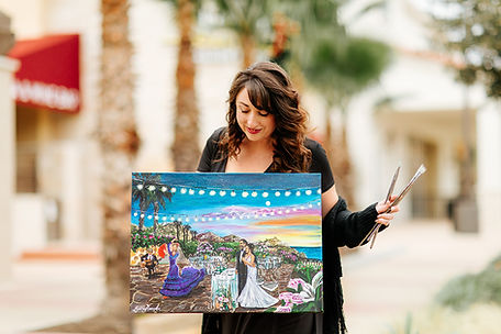 Texas Wedding Painter | Live Wedding Painter in Texas