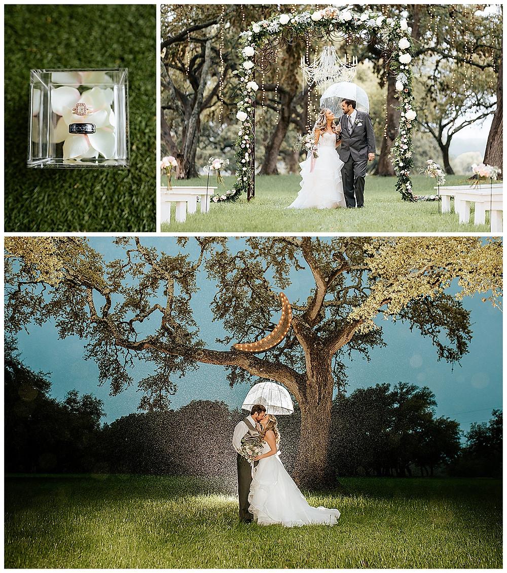 Boerne Wedding Planner | The Oaks at Boerne Wedding | Bride | Bridal Suite | Wedding Planning | Coronavirus Wedding | Wedding Rings | Rainy Wedding | Wedding Ceremony