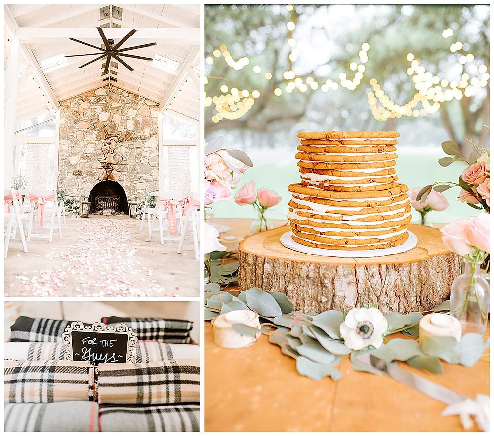 Boerne Wedding Planner | The Oaks at Boerne Wedding | Bride | Bridal Suite | Wedding Planning | Coronavirus Wedding | Wedding Ceremony | Rainy Wedding | Cookie Wedding Cake