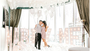 SHE SAID YES | A Proposal at the Thompson Hotel by Snap Chic Photography